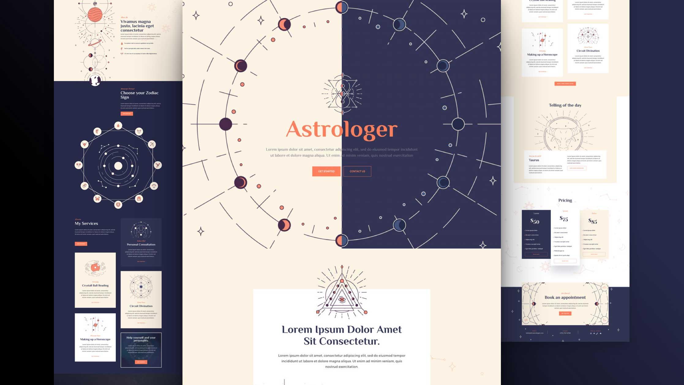 astrologie-divi-kostenloses-layout-pack