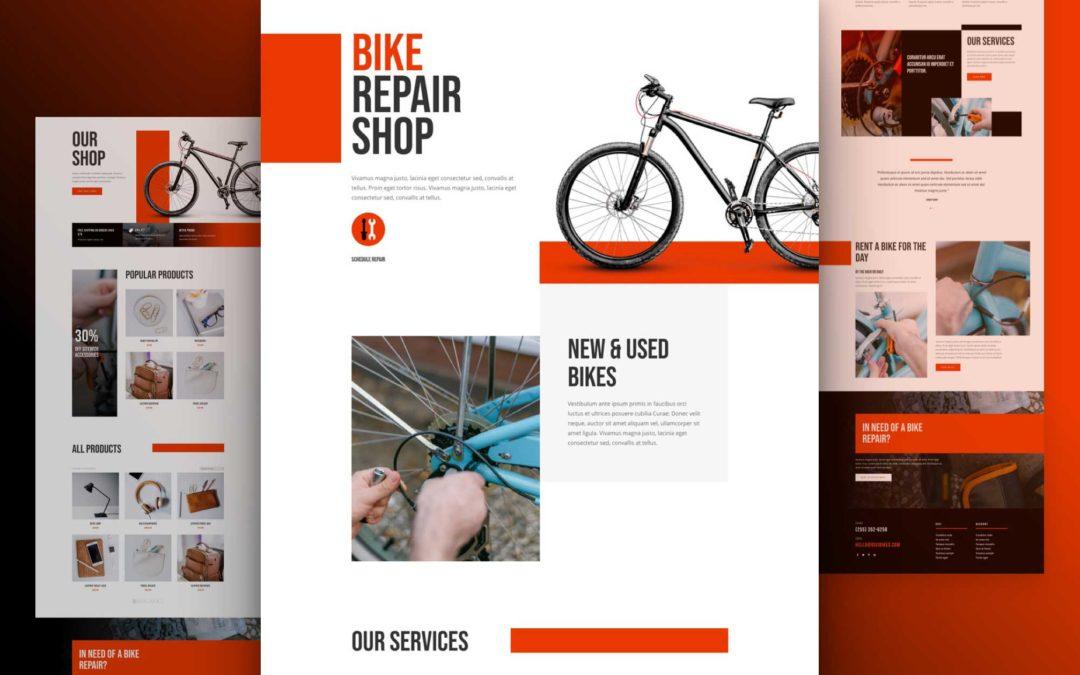 Kostenloses Layout Pack für Fahrradwerkstatt