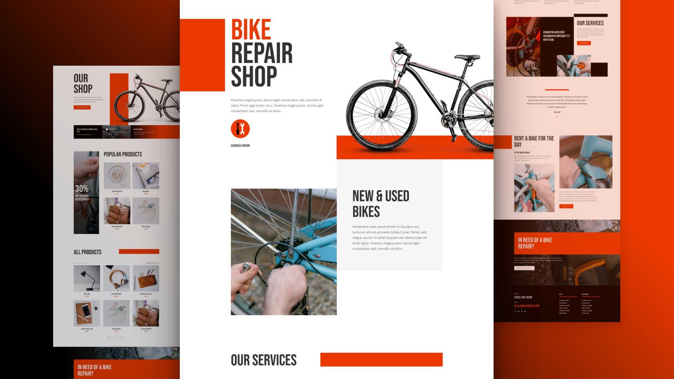 fahrradwerkstatt-divi-kostenloses-layout-pack