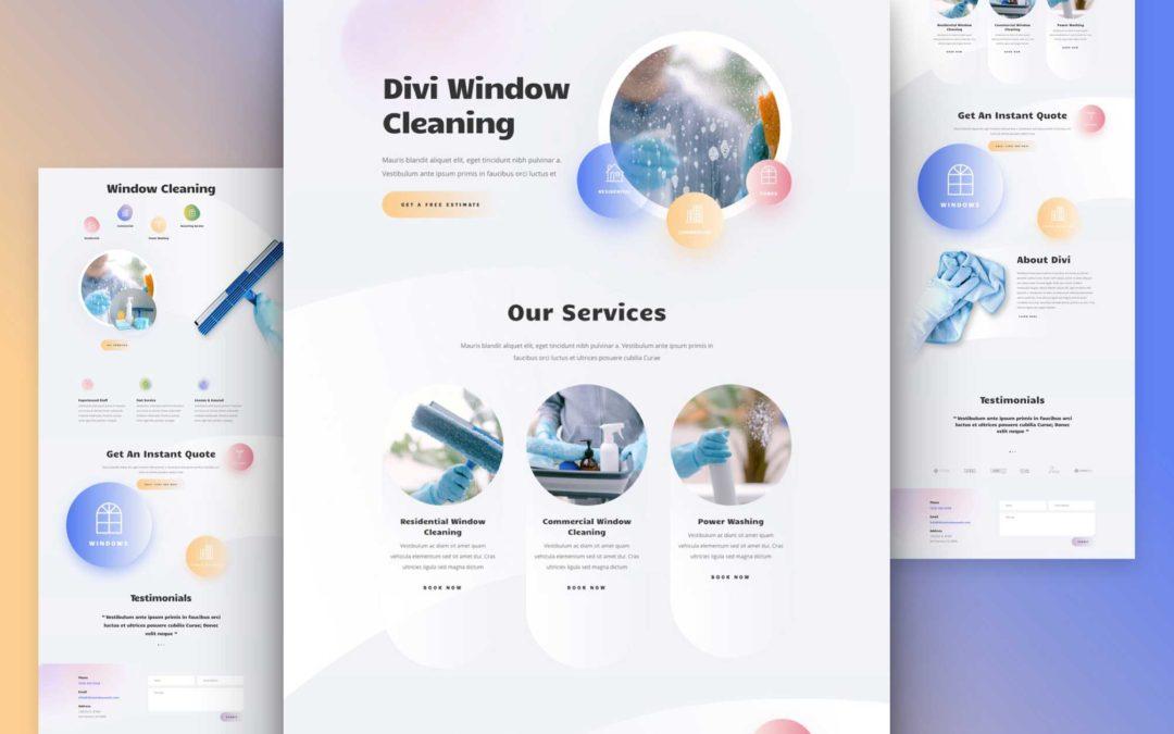 Kostenloses Divi Layout Pack für Fensterreinigung