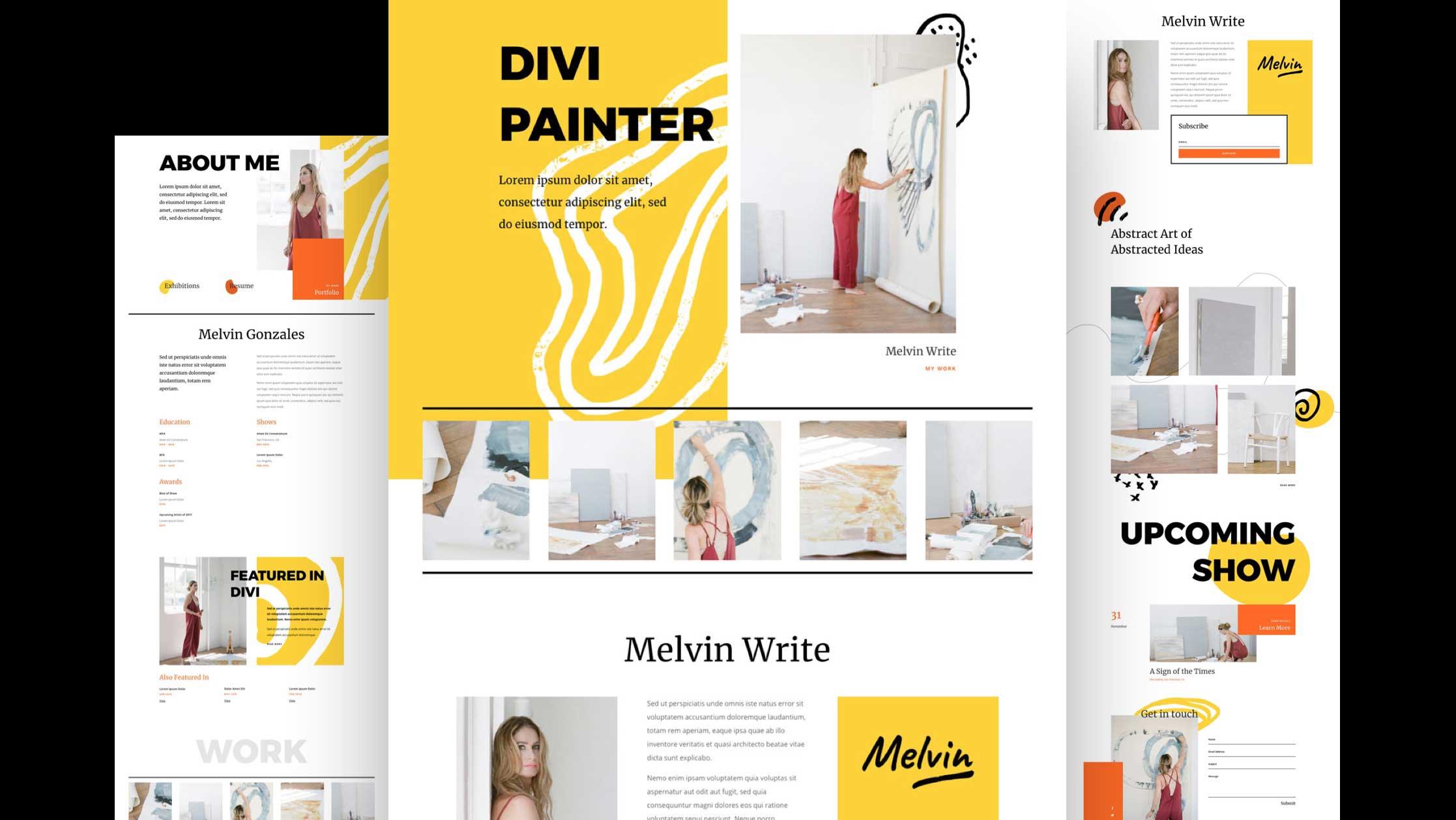 malerinnen-divi-kostenloses-layout-pack
