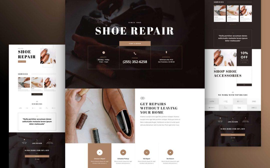 Kostenloses Schuhreparatur Layout Pack