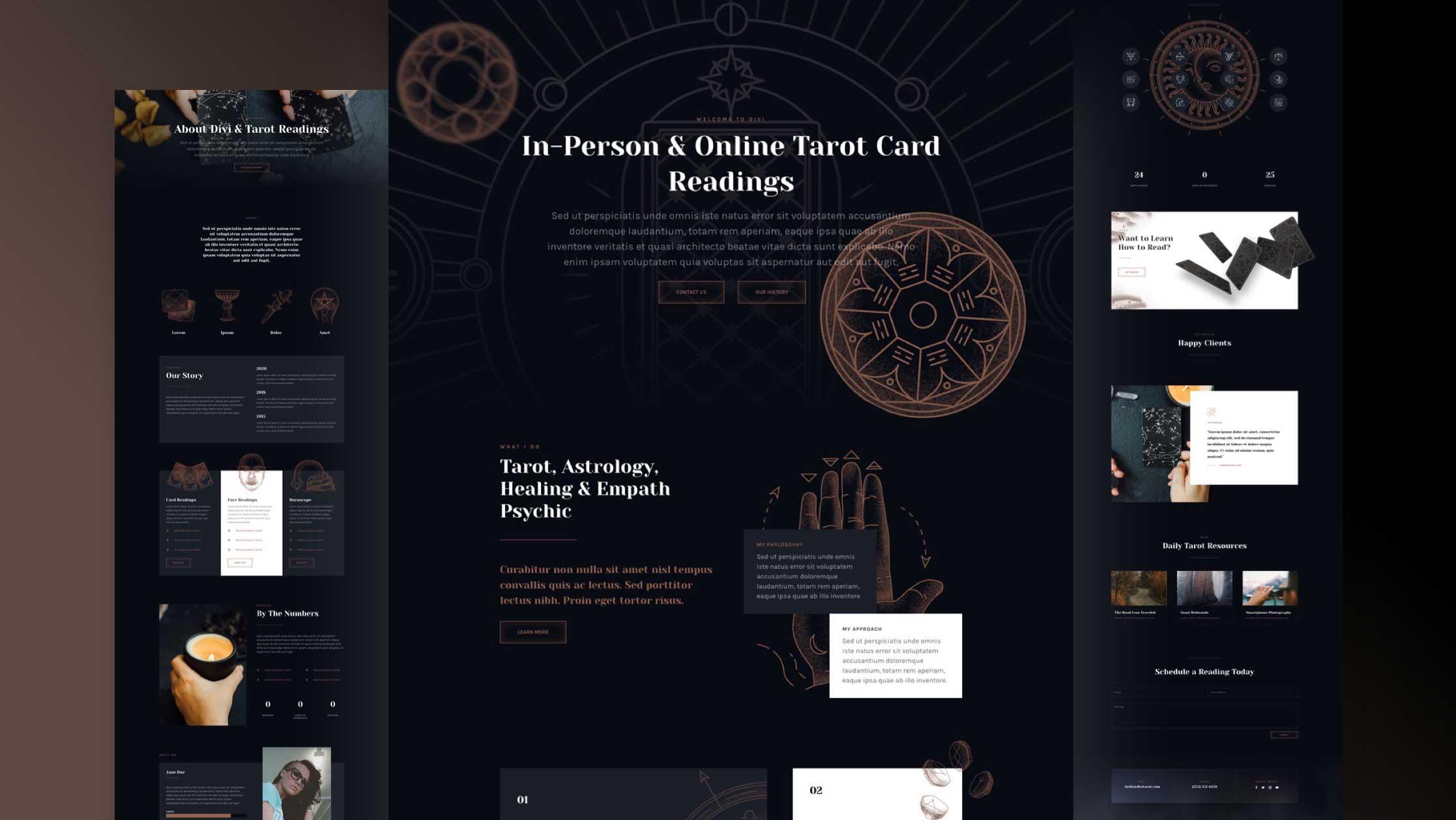 Kostenloses Tarot Layout Pack für Divi
