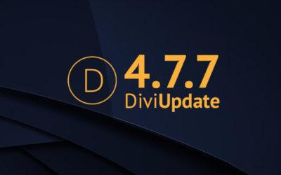 Divi Update 4.7.7