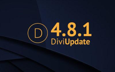 Divi Update 4.8.1
