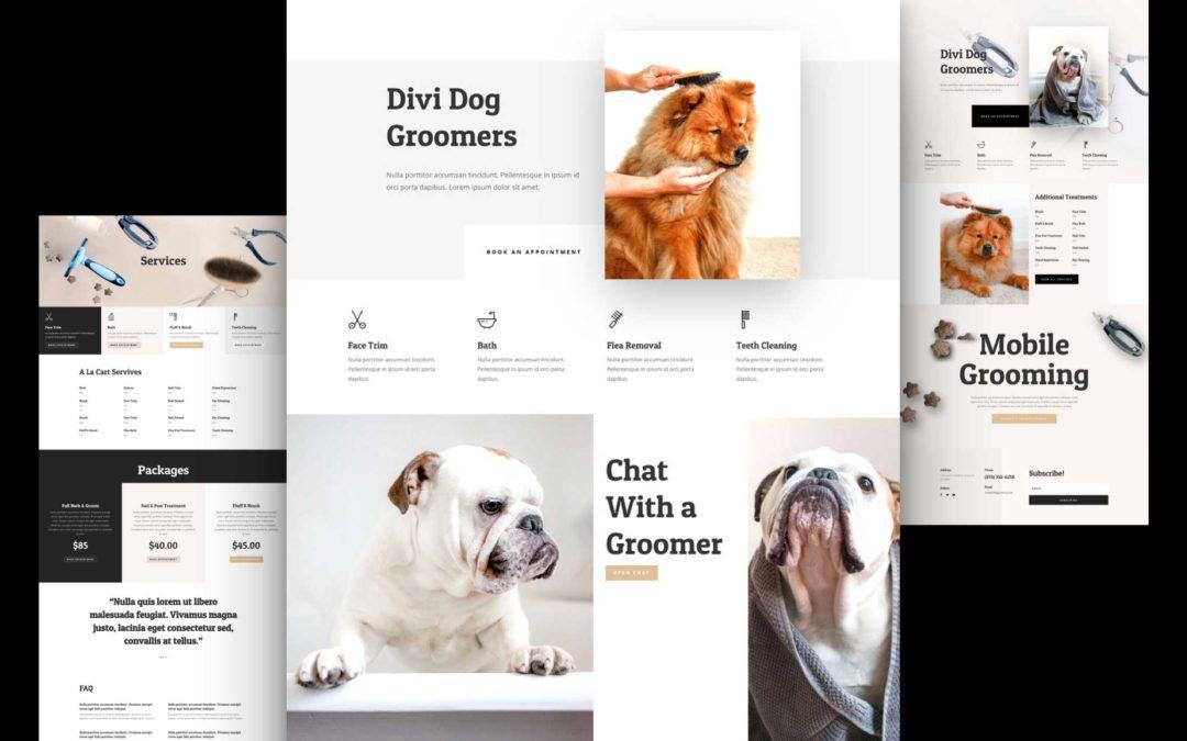 Kostenloses Layout Pack für Hundesalons