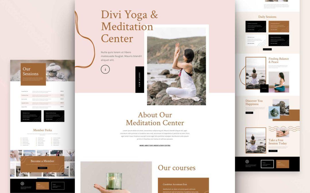 Kostenloses Layout Pack für ein Meditationszentrum