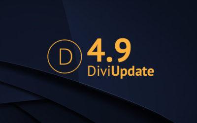 Divi Update 4.9