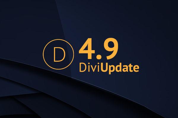 Divi Theme Update 4.9