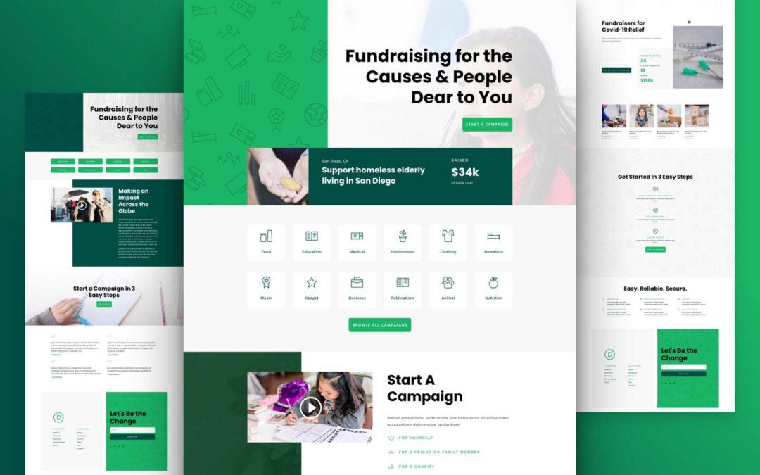 Kostenloses Layout Pack für Crowdfunding-Firmen