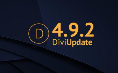 Divi Update 4.9.2