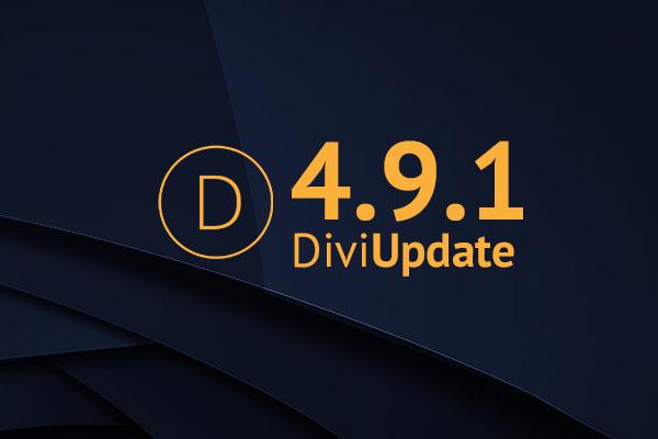 Divi Update 4.9.1