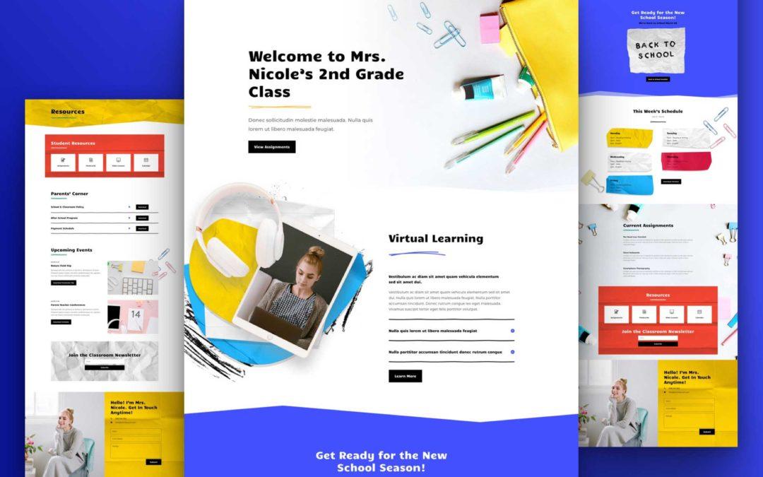 Kostenloses Layout Pack für ein virtuelles Klassenzimmer