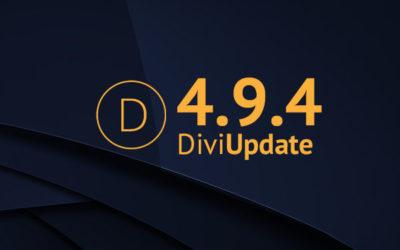 Divi Update 4.9.4