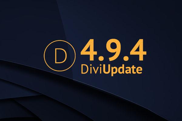 Divi Theme Update 4.9.4
