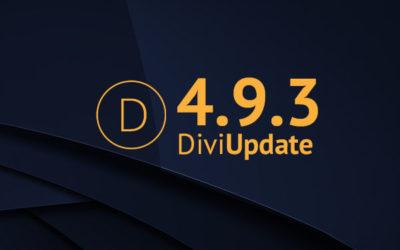 Divi Update 4.9.3