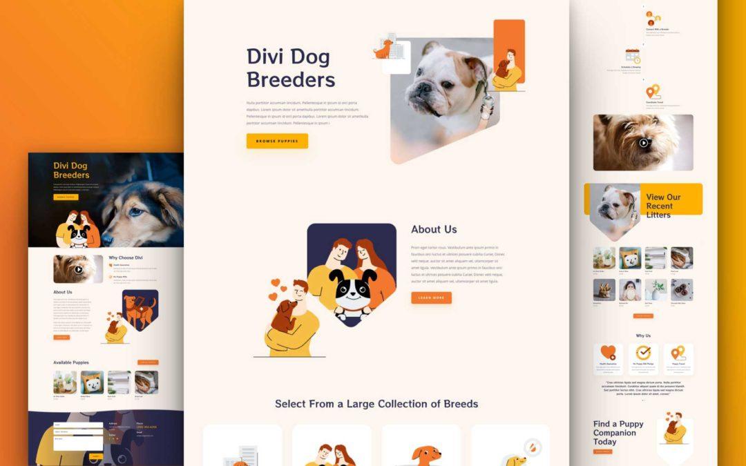 Kostenloses Layout Pack für Hundezüchter