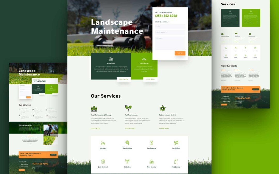 Kostenloses Layout Pack für Garten- und Landschaftspflege