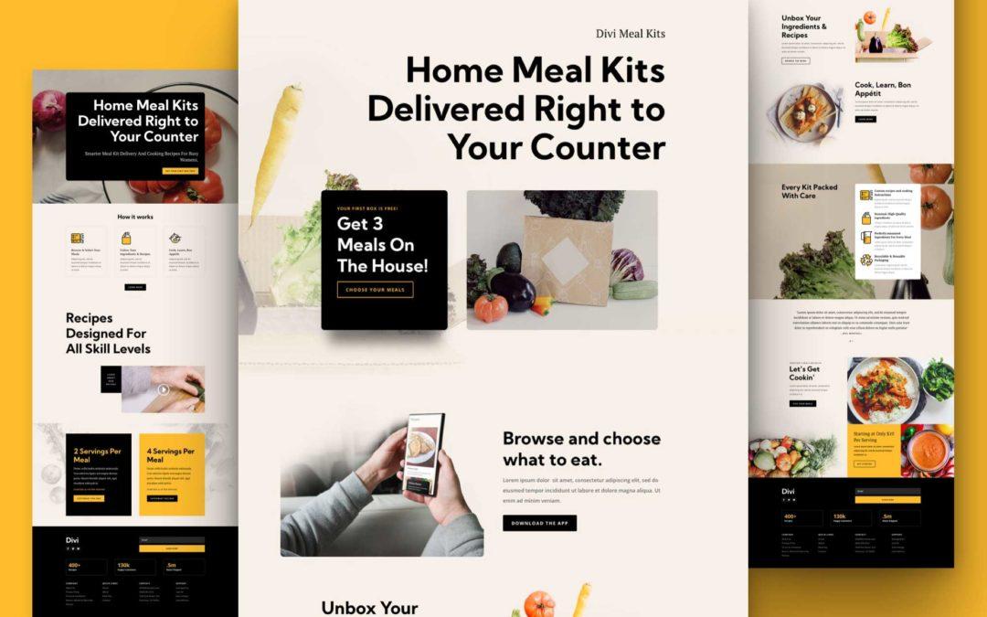 Kostenloses Layout Pack für Kochboxen