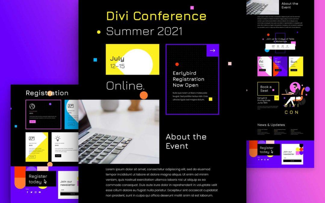 Kostenloses Layout Pack für virtuelle Konferenzen