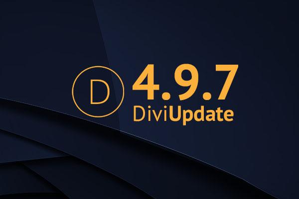 Divi Theme Update 4.9.7