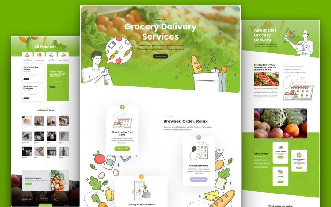 Kostenloses Layout Pack für Lebensmittellieferanten