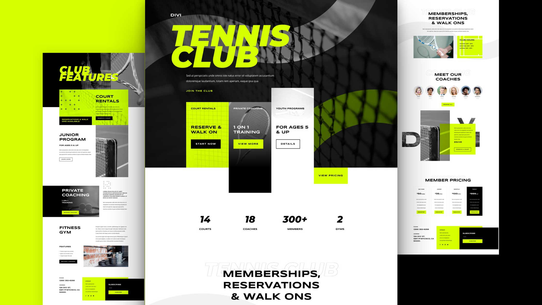 Kostenloses Layout Pack für einen Tennisclub