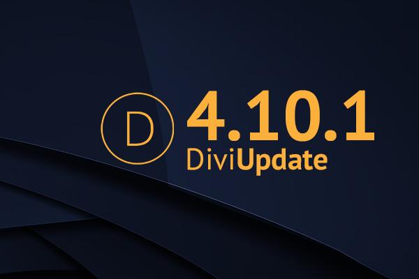 Divi Theme Update 4.10.1