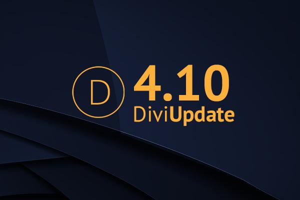 Divi Theme Update 4.10