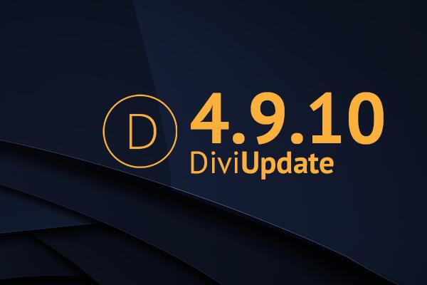 Divi Theme Update 4.9.10