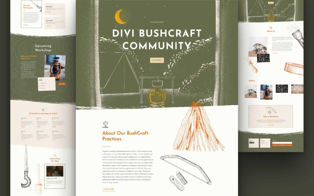 Kostenloses Layout Pack für Bushcraft-Websites