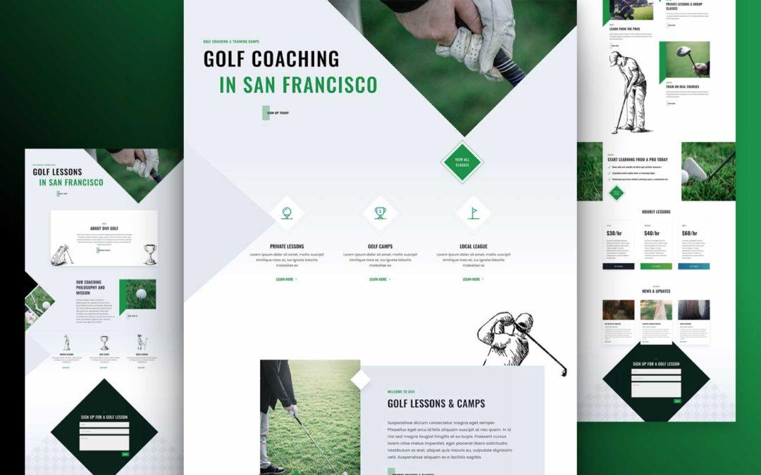 Kostenloses Layout Pack für Golfschulen