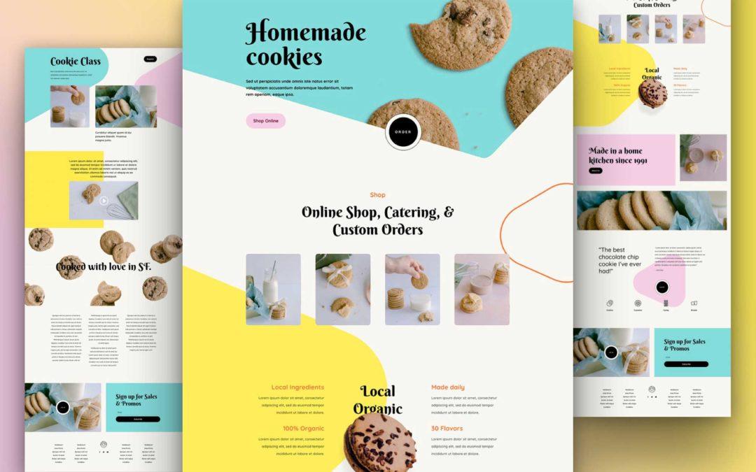 Kostenloses Layout Pack für einen Onlineshop für hausgemachte Kekse