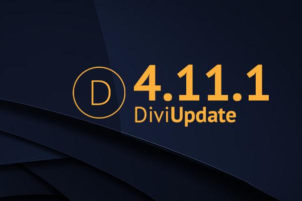 Divi Theme Update 4.11.1