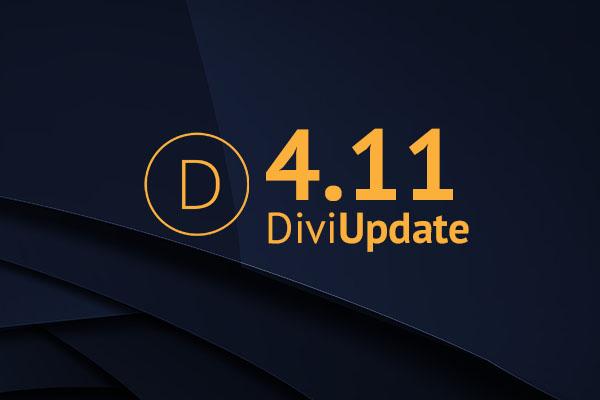 Divi Theme Update 4.11