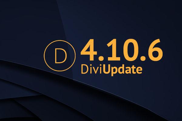 Divi Theme Update 4.10.6