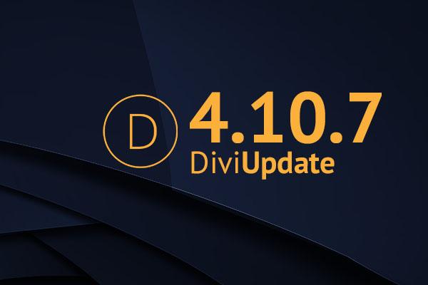 Divi Theme Update 4.10.7
