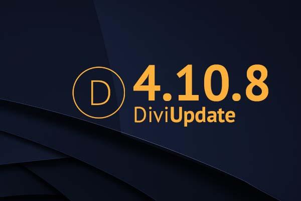 Divi Theme Update 4.10.8