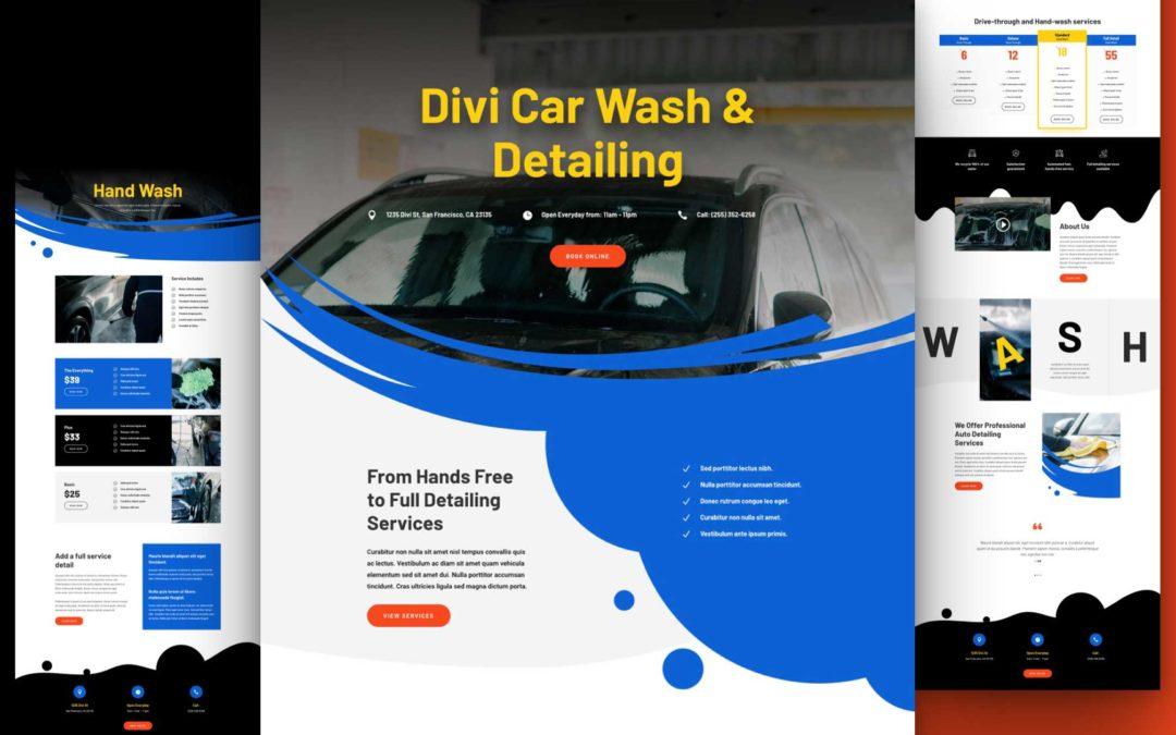 Kostenloses Layout Pack für Autowaschanlagen