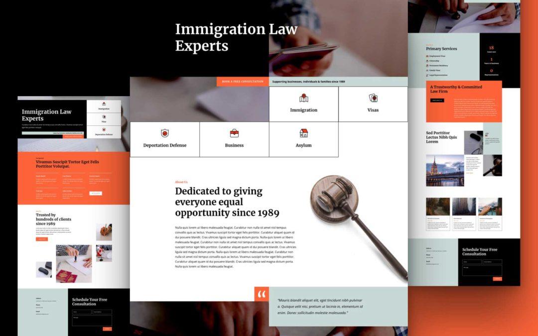 Kostenloses Layout Pack für Einwanderungsanwälte