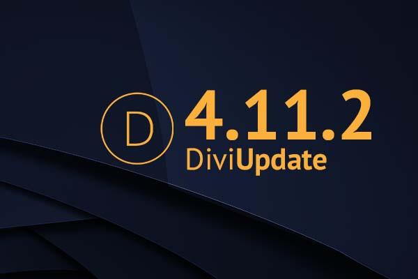Divi Theme Update 4.11.2